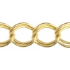 Chain Oval Parallel 13x10mm Gold
